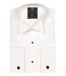 Мужская вечерняя приталенная рубашка St James со стильной выработкой - воротник под бабочку