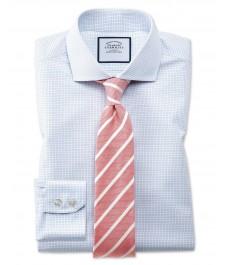 Мужская приталенная рубашка Charles Tyrwhitt, в мелкую клетку,  коллекция на лето