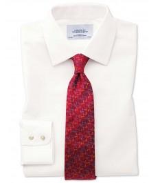 Мужская офисная классическая рубашка Charles Tyrwhitt, кремовая