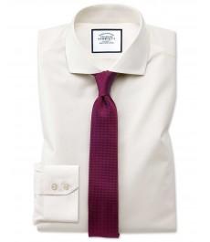 Мужская экстраприталенная кремовая английская рубашка Charles Tyrwhitt