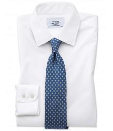 Мужская приталенная хлопковая рубашка Charles Tyrwhitt , рукав под пуговицу, не требует глажки