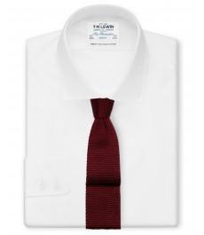 Белая гладкотканная рубашка TM Lewin, рукав под пуговицу