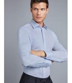 Мужская офисная экстраприталенная рубашка St James, стрейч хлопок