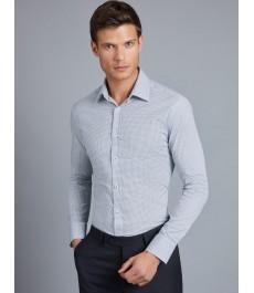 Мужская офисная экстраприталенная рубашка St James, хлопок стрейч