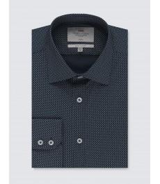 Мужская офисная экстраприталенная рубашка St James, стрейч-хлопок, рукав под пуговицу