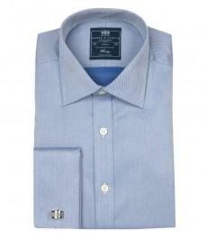 Мужская приталенная рубашка St.James, светло голубая ткань твил - ткань не требует глажки