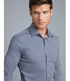 Мужская офисная приталенная рубашка St James, хлопок стрейч