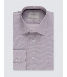 Мужская офисная приталенная рубашка St James, стрейч-хлопок, рукав под пуговицу