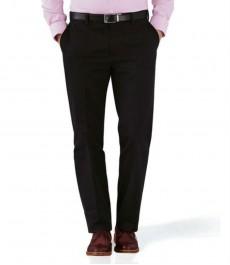 Чёрные приталенные брюки-слаксы Charles Tyrwhitt не требуют глажки