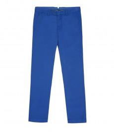 Мужские брюки из хлопчатобумажного твила, ярко-голубые, экстраприталенные