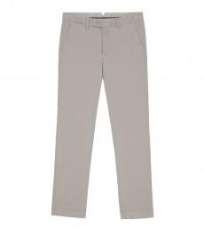 Мужские серые экстраприталенные хлопковые брюки, слаксы
