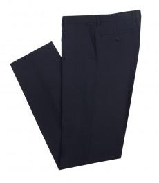 Мужские темно-синие брюки, в полоску, приталенные