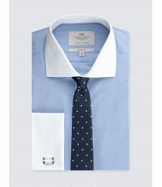 Мужская рубашка, классический крой - End on End - Манжеты под запонки
